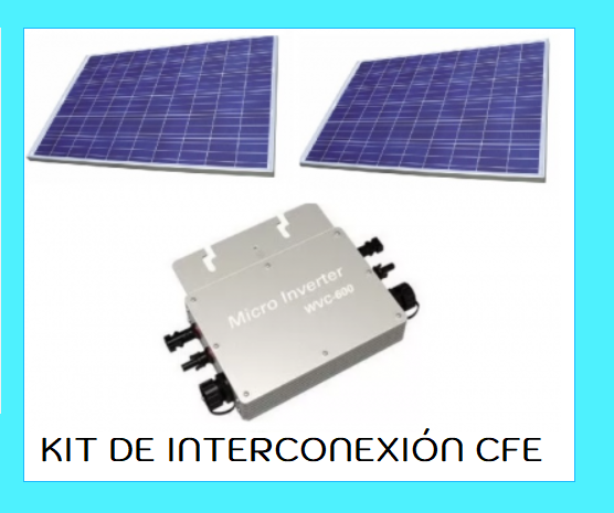 KIT SOLAR DE INTERCONEXIÓN A CFE
